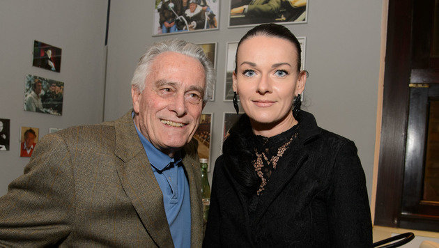 Klaus Wildbolz mit seiner langjährigen Verlobten Nadine von Vöhren (Bild: Viennareport)
