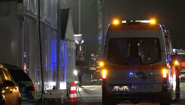 Brand in deutscher Flüchtlingsunterkunft (Bild: Ruptly.TV)