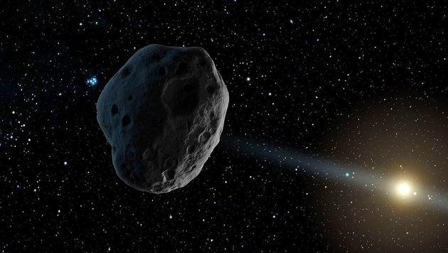 Künstlerische Darstellung des Asteroiden 2016 WF9 (Bild: NASA/JPL-Caltech)