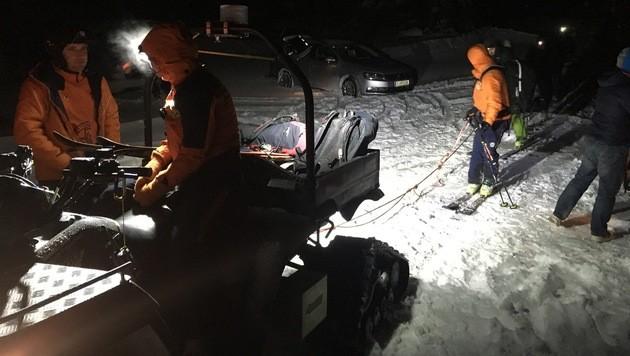 Die Bergretter in Salzburg suchten fieberhaft nach den vermissten Snowboardern. (Bild: Bergrettung Salzburg)