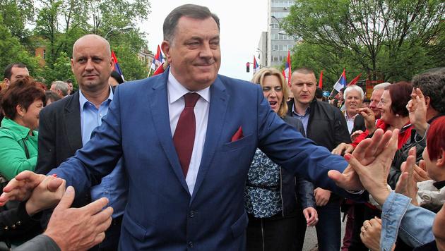 Bosnischer Serbenchef träumt von neuen Grenzen (Bild: APA/AFP/ELVIS BARUKCIC)