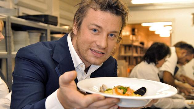 Jamie Oliver im Anflug auf Wien (Bild: dpa/A3796 Uwe Anspach)