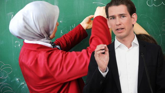 Kurz für Kopftuchverbot im öffentlichen Dienst (Bild: thinkstockphotos.de, APA/Georg Hochmuth)