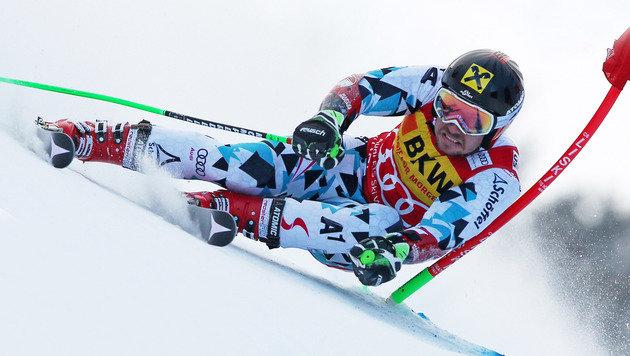 Marcel Hirscher auf dem Weg zu Platz zwei (Bild: GEPA)