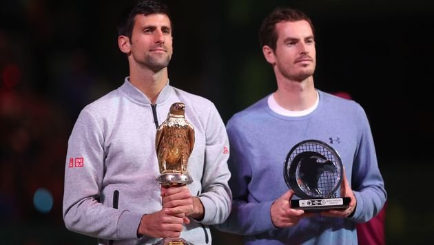 Novak Djokovic und Andy Murray (Bild: AFP)