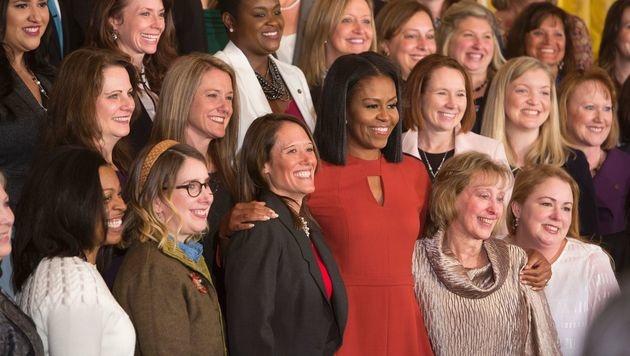 """Michelle Obama: """"Keine Angst, sondern Hoffnung"""" (Bild: APA/AFP/CHRIS KLEPONIS)"""