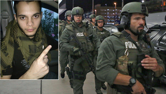 Esteban Santiago (li.) wurde als Schütze identifiziert. (Bild: Twitter, AP)