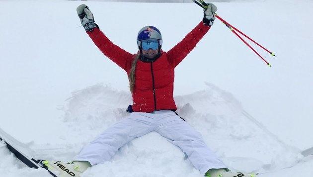 Vorfreude auf den Weltcup: Lindsey Vonn ist zurück im Schnee! (Bild: twitter.com/LindseyVonn)