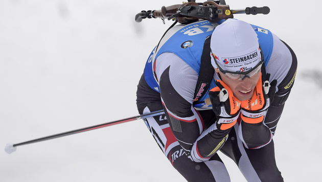 Sprintsieger Julian Eberhard verpatzt Verfolgung (Bild: AP)