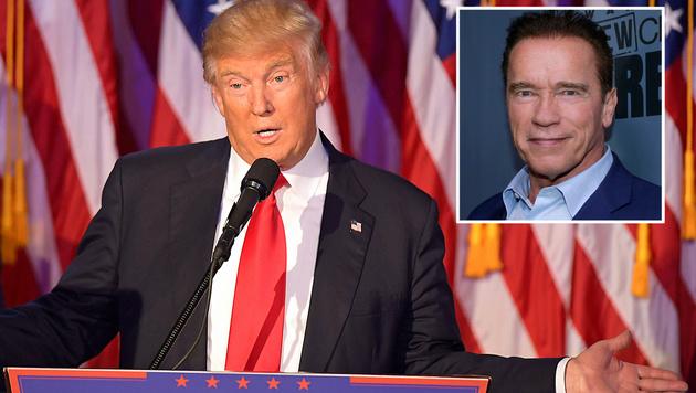 Trump legt sich mit Schwarzenegger an (Bild: APA/AFP/JIM WATSON, AP)