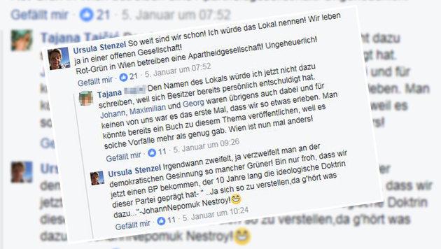 """Ursula Stenzel ortet gar eine """"Apartheidgesellschaft"""". (Bild: Facebook.com/Tajana T.)"""