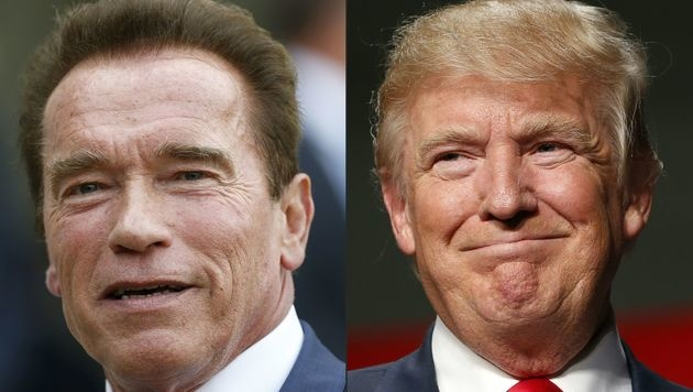 Arnold Schwarzenegger und Donald Trump (Bild: APA/AFP/THOMAS SAMSON/JEFF KOWALSKY)