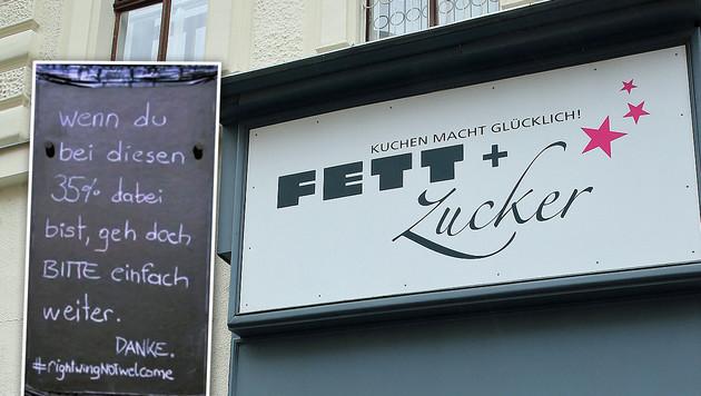 """Hofer-Wähler waren nach dem ersten Wahldurchgang im Fett + Zucker unerwünscht. (Bild: """"Krone"""", Peter Tomschi)"""