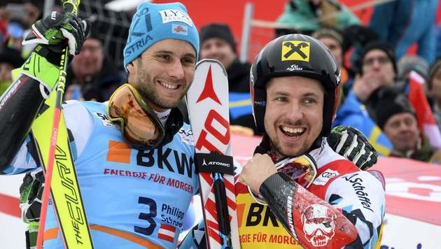 Philipp Schörghofer und Marcel Hirscher (Bild: AFP)