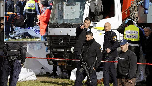 Das sind die vier jungen Opfer des IS-Terroristen (Bild: AFP/MENAHEM KAHANA)