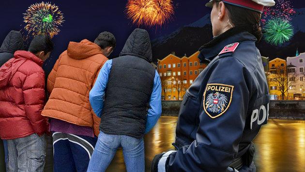 Sex-Attacken in Innsbruck: Sechs Afghanen entlarvt (Bild: APA/BARBARA GINDL, Klemens Groh, thinkstockphotos.de)