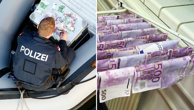 An wen geht der Geldschatz aus der Donau? (Bild: Polizei)