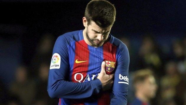 Eklat um Pique! Barcelona-Star greift Liga-Boss an (Bild: EPA)