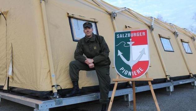 Hauptmann Armin Wagner ist der neue Kommandant vom Hightech-Zeltlagerstützpunkt. (Bild: Bundesheer)