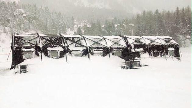 Härtetest im Schnee: Das Hightech-Zeltlager der Salzburger Pioniere (Bild: Bundesheer)