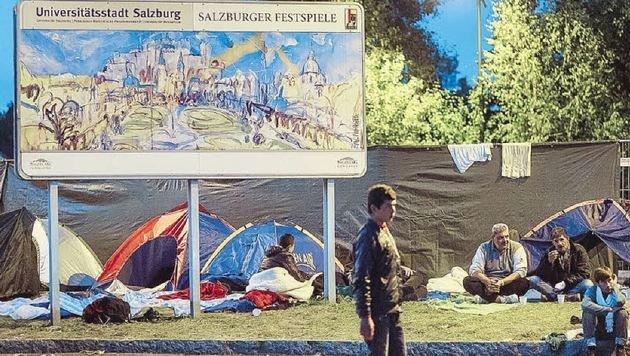 Die Flüchtlinge erreichten Salzburg im Herbst 2014 (Symbolbild). (Bild: EXPA/JFK)
