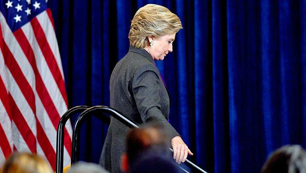 """""""Hillary wird nie wieder bei einer Wahl antreten"""" (Bild: APA/AFP/JEWEL SAMAD)"""