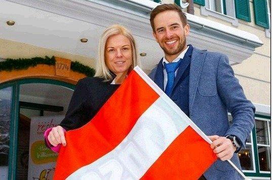 Gastgeber Sabrina und Daniel Warter vom Reslwirt. (Bild: Gerhard Schiel)