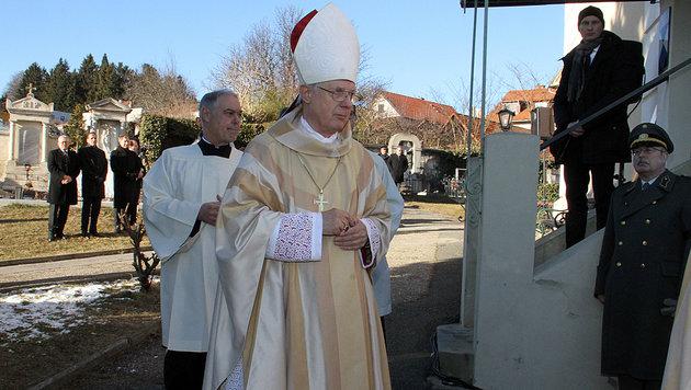 Alt-Bischof Egon Kapellari leitete den Gottesdienst. (Bild: Christian Jauschowetz)
