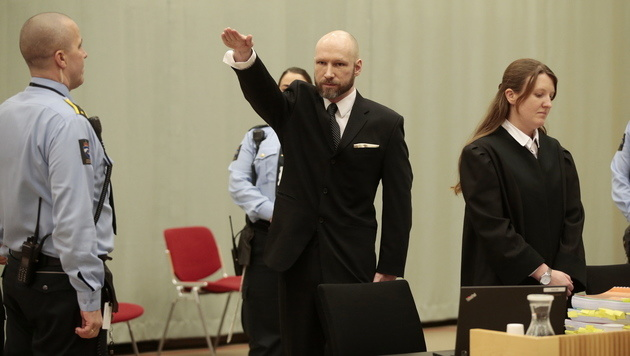 Der Massenmörder Anders Behring Breivik (Bild: AP)