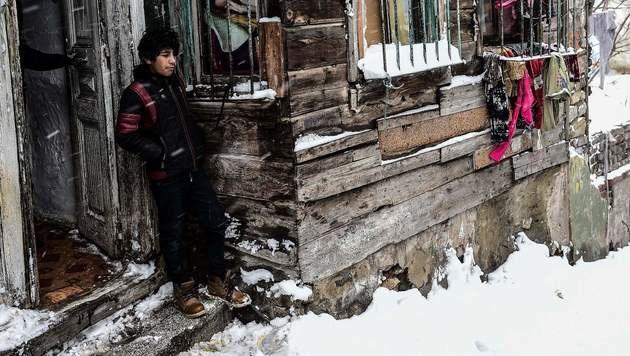 Schnee in der Türkei (Bild: APA/AFP/YASIN AKGUL)