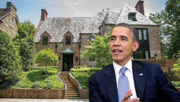 Am 20. Jänner übergibt Barack Obama das Weiße Haus und zieht in dieses schmucke Backsteinhaus. (Bild: ASSOCIATED PRESS)