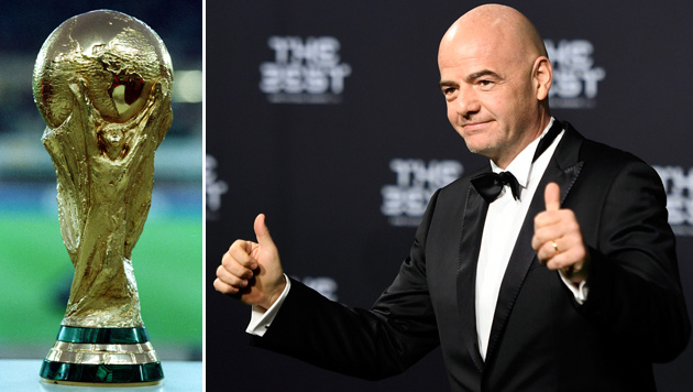 Fix! FIFA beschließt WM mit 48 Teams ab 2026 (Bild: GEPA, AP)
