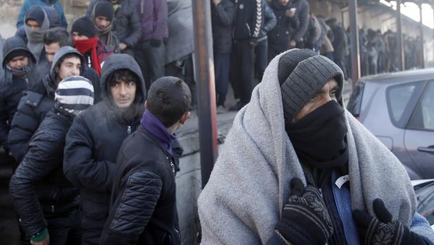 Klirrende Kälte in den Balkanländern (Bild: AP)