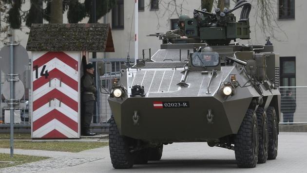 """Ein """"Pandur""""-Radpanzer des österreichischen Bundesheeres (Bild: APA/BMLVS/Wolfgang Grebien)"""