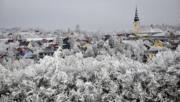 Frost herrscht auch in der Ortschaft Gföhl im Waldviertel. (Bild: Leserreporter)