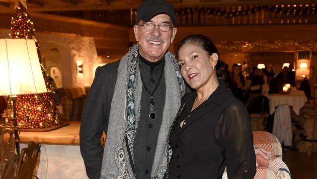 Neo-Dancing-Star Otto Retzer mit Ehefrau Shirley (Bild: Michael Tinnefeld)