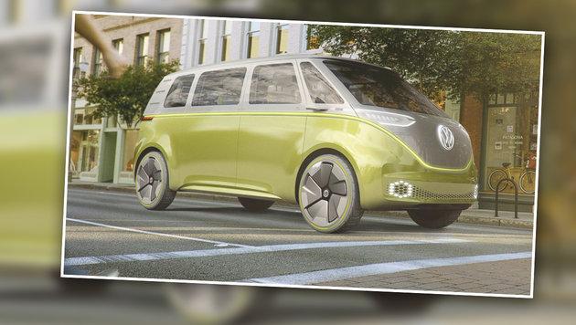 VW's I.D. Buzz kommt ganz ohne Fahrer aus! (Bild: Screenshot twitter.com)