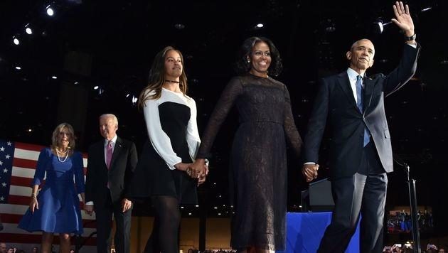 Barack Obama nahm unter Tränen Abschied (Bild: APA/AFP/NICHOLAS KAMM)