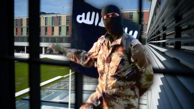 Immer mehr IS-Terroristen sitzen bei uns in Haft (Bild: APA/BARBARA GINDL, twitter.com)