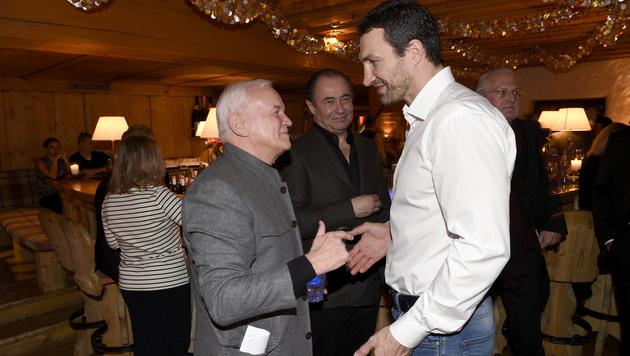 Freundschaftliches Gespräch: Baldessarini und Box-Champ Wladimir Klitschko (Bild: Michael Tinnefeld)