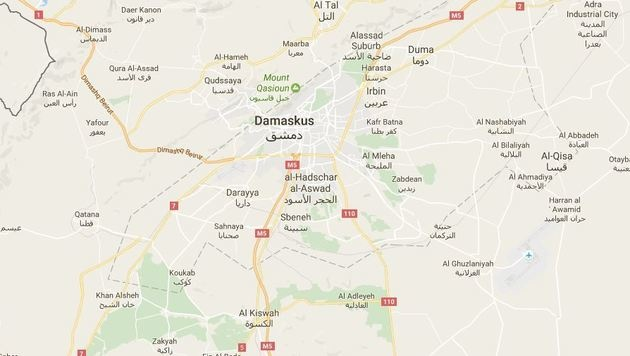 Damaskus in Syrien (Bild: Screenshot GoogleMaps.com)