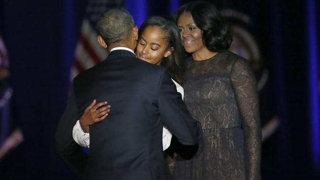Barack Obama nahm unter Tränen Abschied (Bild: APA/AFP/GETTY IMAGES/SCOTT OLSON)