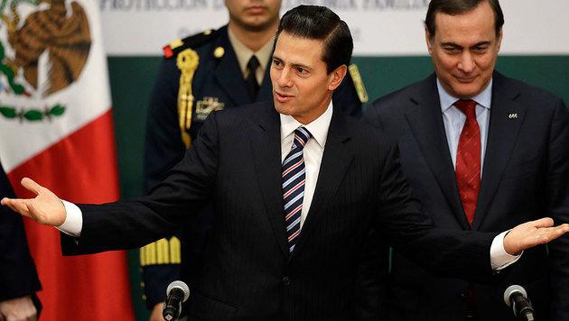 Der mexikanische Staatschef Enrique Pena Nieto will nicht für die Grenzmauer zahlen. (Bild: ASSOCIATED PRESS)