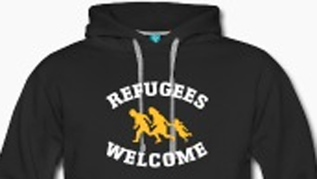 Mit einem solchen Pullover wollte die Berliner Schülerin (13) in den Bundestag. (Bild: Screenshot/linke-t-shirts.de (Symbolbild))