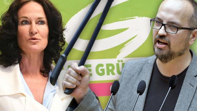 """""""Grenzen auf""""-Fan Reimon jetzt im Grünen-Vorstand (Bild: APA/HELMUT FOHRINGER, APA/HERBERT NEUBAUER)"""