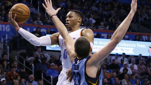 Oklahoma-Star Westbrook weiter auf Rekordkurs (Bild: AP)