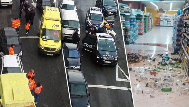 """""""Allahu Akbar""""-Überfall auf spanischen Supermarkt (Bild: twitter.com)"""