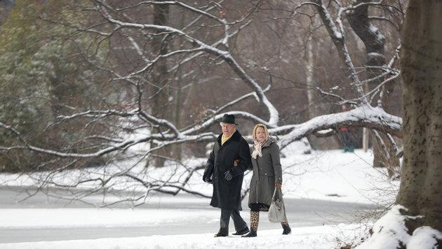 """Sturmtief """"Egon"""" bringt den Winter zurück ins Land (Bild: APA/GEORG HOCHMUTH)"""