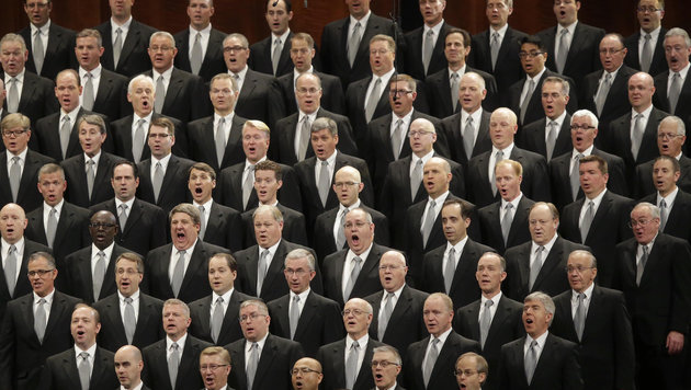 "Der ""Tabernacle Chor"" der Mormonen singt bei Trumps Amtseinführung. (Bild: Copyright 2016 The Associated Press. All rights reserved.)"
