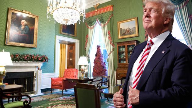 Trumps Partygäste sind so reich wie 43 Millionen US-Amerikaner zusammen. (Bild: AFP/AP)